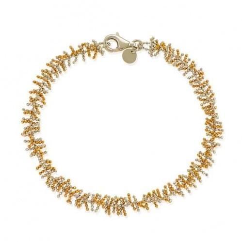 Браслет золотой белое и красное(Флорентино - Collection Florentino)