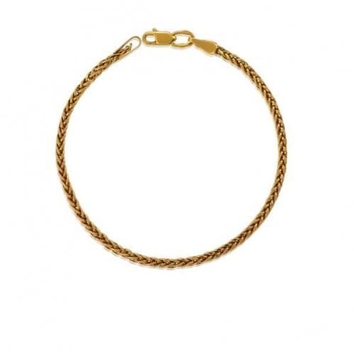 Золотой браслет с фианитом БС143и