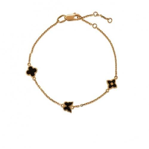 Золотой браслет с эмалью БС1467р