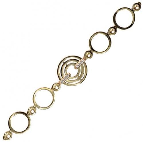 Золотий браслет з фіанітом БС266и