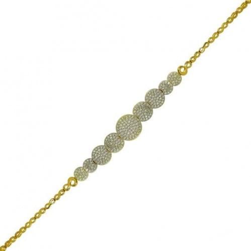 Браслет из лимонного золота с фианитом БС328Ли