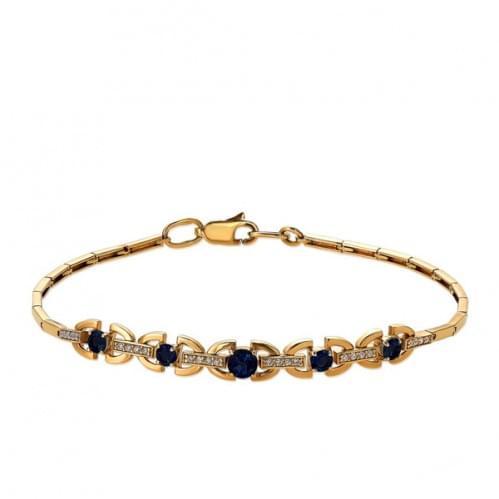 Золотой браслет с сапфиром БС336.00302н