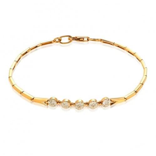 Золотой браслет с бриллиантом БС341(1).00100н