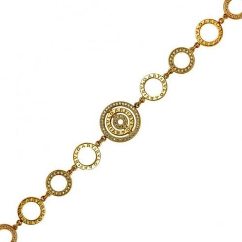 Золотий браслет з фіанітом БС873и