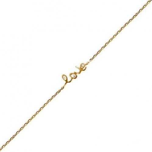 Золотой браслет с фианитом БС897и