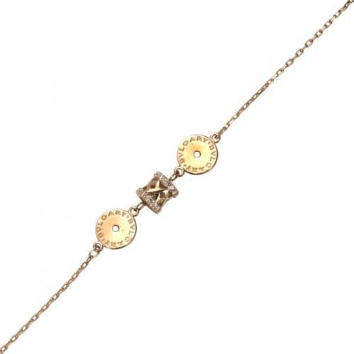 Золотой браслет с фианитом БС903и