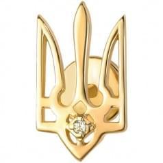Брошь Золотая Герб Украины