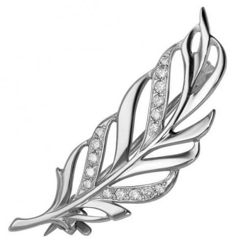 Срібна брошка з фіанітом БШ128с
