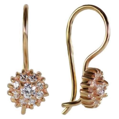 Золоті сережки з фіанітом ДС024и