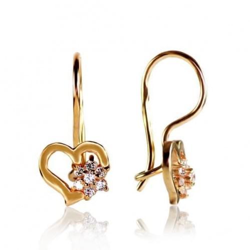 Золоті сережки з фіанітом ДС033и