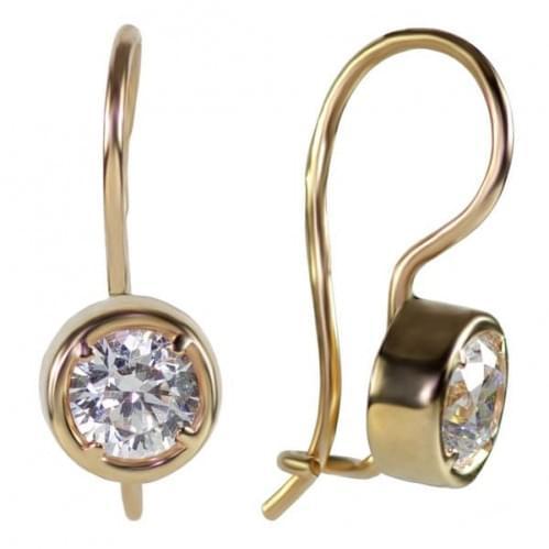 Золоті сережки з фіанітом ДС039и