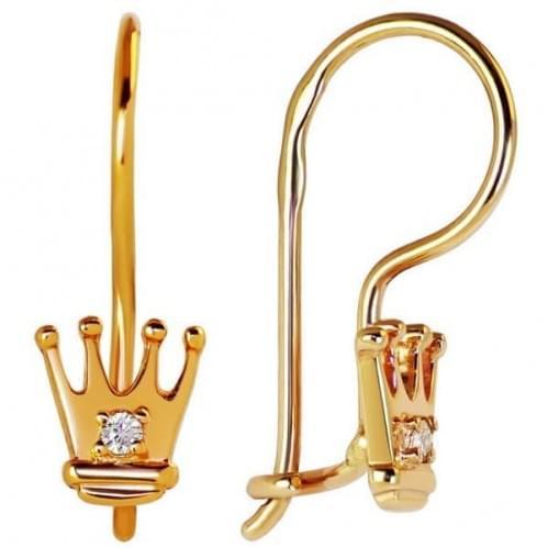 Золоті сережки з фіанітом ДС043и