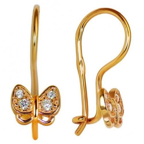 Золоті сережки з фіанітом ДС046и