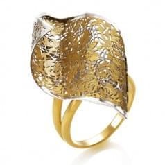 Кольцо лимонное золото (Флорентино - Collection Florentino)