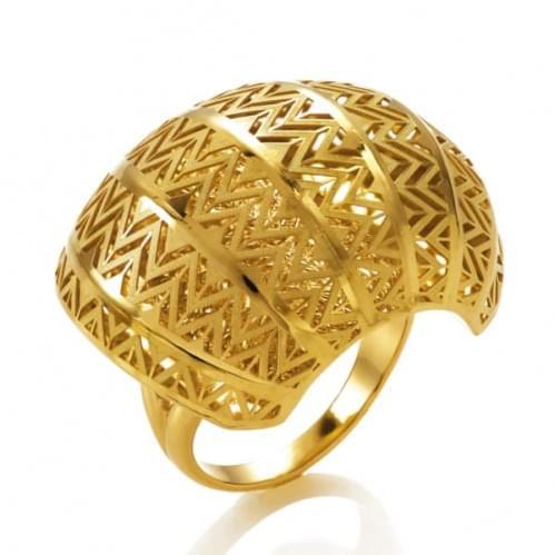 Кольцо из лимонного золота (Флорентино - Collection Florentino) КБ0015л