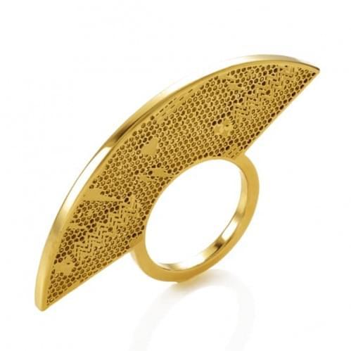 Кольцо из лимонного золота (Флорентино - Collection Florentino) КБ0016л