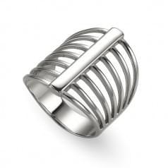Кольцо серебряное без вставки
