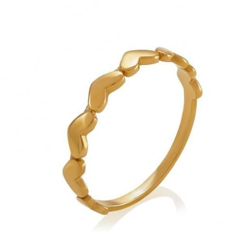 Кольцо в красном золоте без вставки