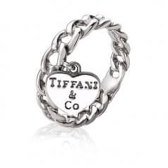 Женское кольцо из белого золота