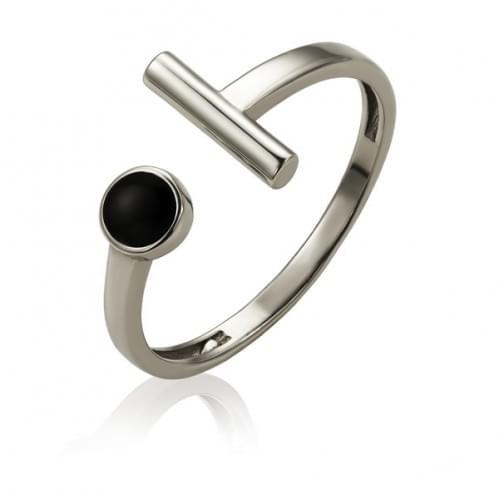 Кольцо серебряное оникс