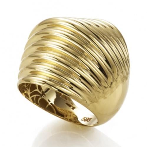 Кольцо из лимонного золота (Астарта - Collection Astarta) КБ954Лк