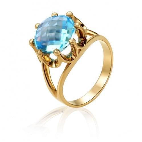 Золотое кольцо с топазом КВ1000.12401н