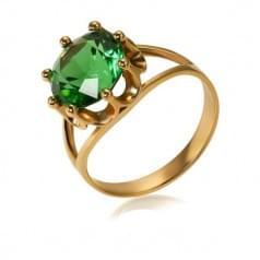 Золотое кольцо с кварцом