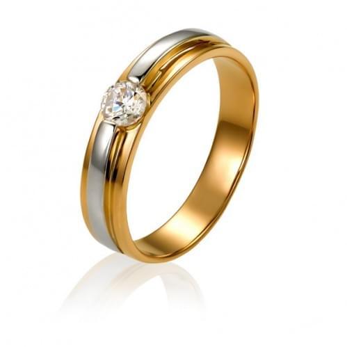 Золотое кольцо с фианитом КВ1046и