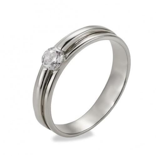 Серебряное кольцо с фианитом КВ1046с