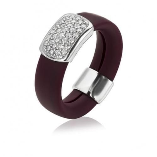 Серебряное кольцо с фианитом КВ1047с