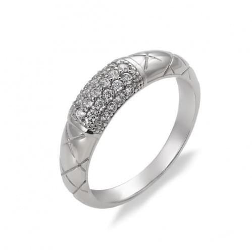 Серебряное кольцо с фианитом КВ1048с