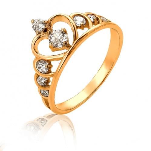 Золотое кольцо с цирконием КВ105и