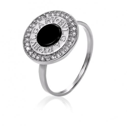 Срібний перстень з оніксом КВ1051с