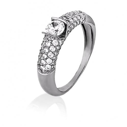 Серебряное кольцо с фианитом КВ1057с
