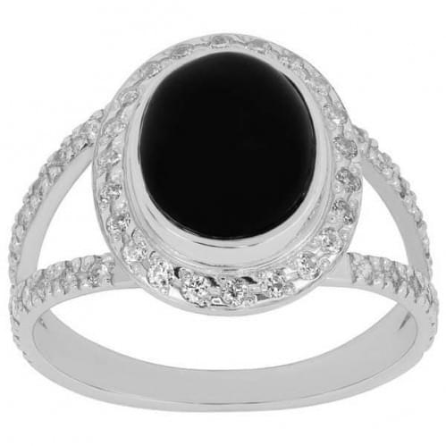 Серебряное кольцо с фианитами КВ1060с