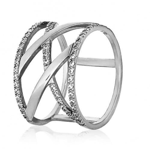 Серебряное кольцо с фианитом КВ1068с