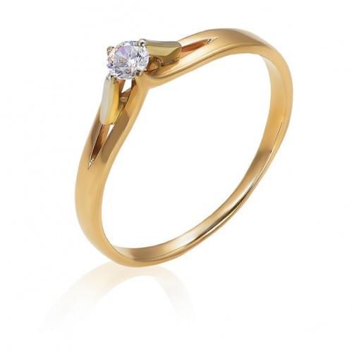 Золотое кольцо с бриллиантом КВ1072.00100н