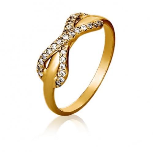 Золотое кольцо с фианитом КВ1076и