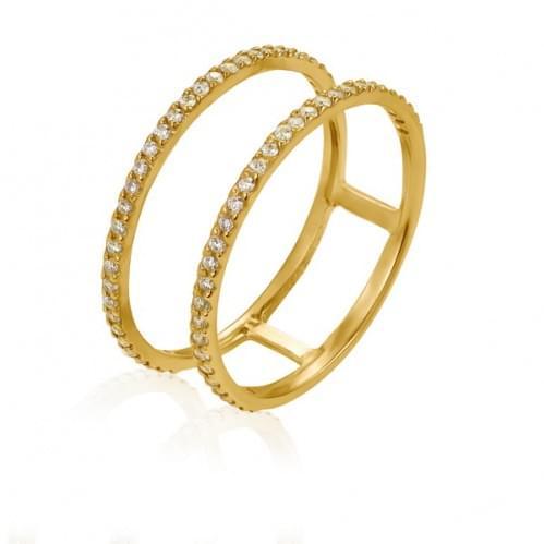 Кольцо из лимонного золота с фианитом КВ1083Ли