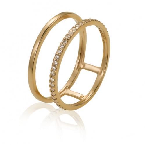 Золотое кольцо с фианитом КВ1083(2)и