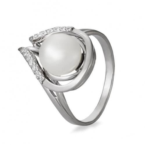 Серебряное кольцо с жемчугом КВ1087с