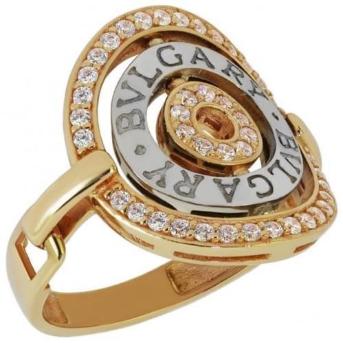 Кольцо золотое с фианитами КВ1090и