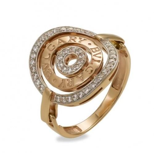 Золотое кольцо с фианитом КВ1090(м)и