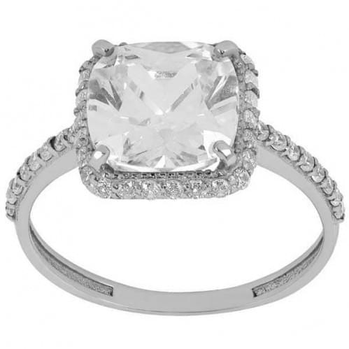 Серебряное кольцо с фианитом КВ1094с