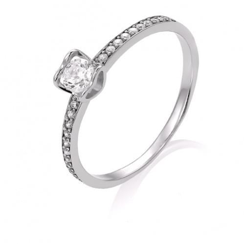 Кольцо из белого золота с бриллиантом КВ1103.00100Бн