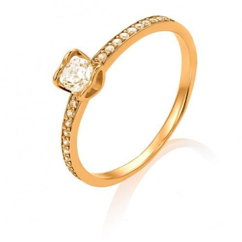 Золотое кольцо с бриллиантом КВ1103.00100н