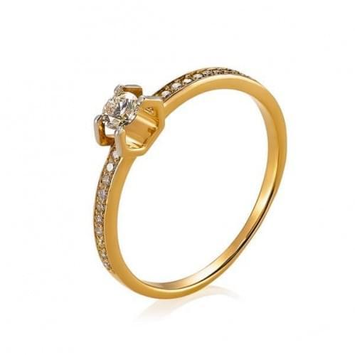 Золотое кольцо со вставкой КВ1104н