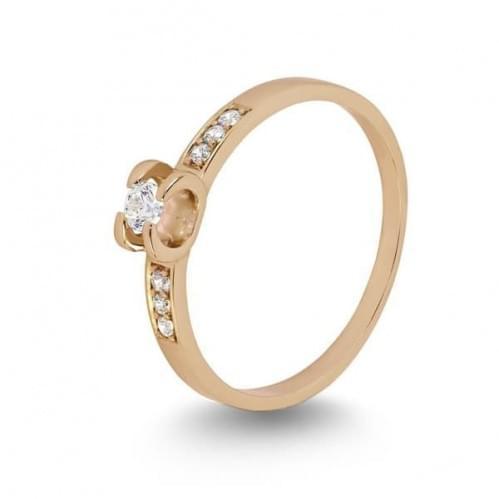 Кольцо золотое с фианитами КВ1105и