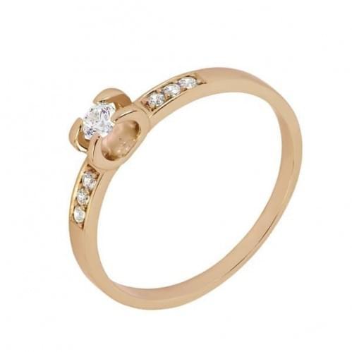 Золотое кольцо со вставкой КВ1105н