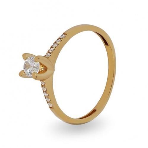 Золотое кольцо с фианитом КВ1106и